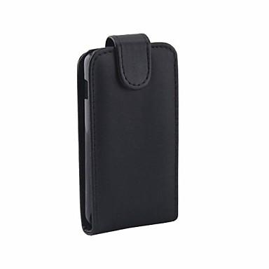 padrão de cor sólida abrir cima e para baixo pu couro caso de corpo inteiro para Sony Xperia e1