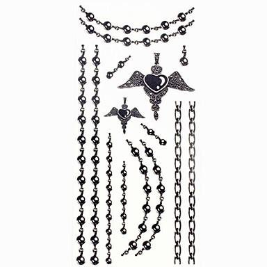 1 pcs Dövme Etiketleri geçici Dövme Mücevher Serileri Su Geçirmez body Art / Temalı / Waterproof
