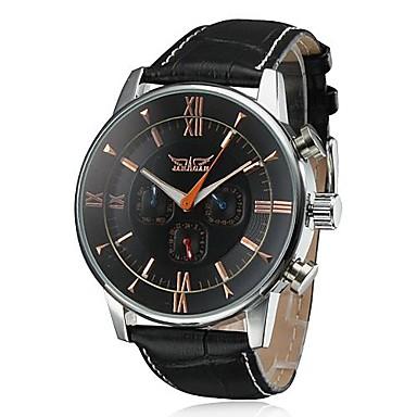 Masculino Relógio de Pulso relógio mecânico Automático - da corda automáticamente Calendário Couro Banda Luxuoso Preta Marrom Branco Preto