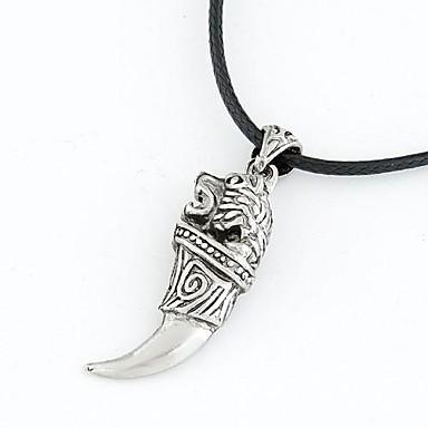 Bărbați Coliere cu Pandativ Oțel titan Argintiu Coliere Bijuterii Pentru Zilnic