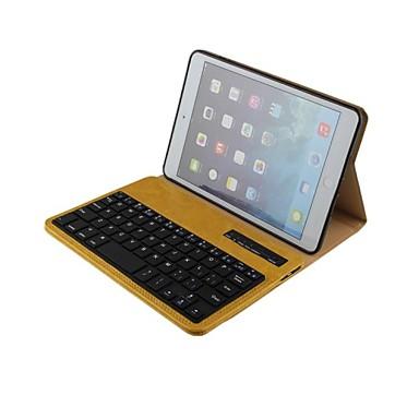 8da6eb33f03ca الذهب سامسونج بلوتوث حقيبة جلد لوحة المفاتيح لمصغرة أبل اي باد   باد mini2،3