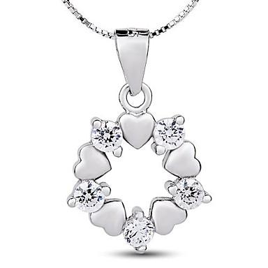 Жен. Ожерелья с подвесками Стерлинговое серебро Циркон Серебрянное покрытие Позолота Ожерелья с подвесками , Для вечеринок Повседневные