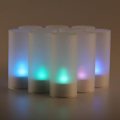 12st geluid sensor flicker 7 kleur veranderende led candle light