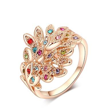 Γυναικεία Κρυστάλλινο Κρύσταλλο Επιχρυσωμένο Δακτύλιος Δήλωσης - Παγόνι Πολύχρωμα Για Γάμου Πάρτι Καθημερινά Causal