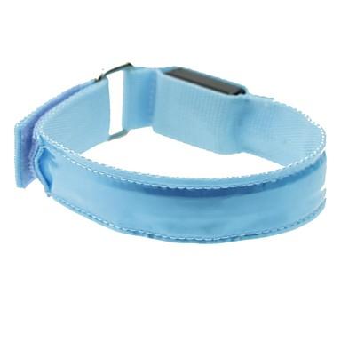 leidde lichte kleur rooster arm band riem armband blauw (2xcr2032)