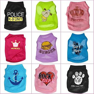 Gato Cachorro Camiseta Roupas para Cães Desenho Animado Arco-Íris Ocasiões Especiais Para animais de estimação