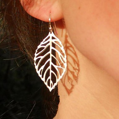 Women's Drop Earrings - Leaf Vintage, Party, Casual Gold / Silver For Party / Daily
