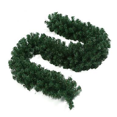 2.7m colorida decoração de Natal de plástico rattan verde