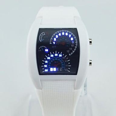 Ανδρικά Ψηφιακό ρολόι Αθλητικό Ρολόι Χαλαζίας Ψηφιακό LED Plastic Μπάντα Μαύρο Λευκή Μπλε Κόκκινο Πράσινο Ροζ Μωβ