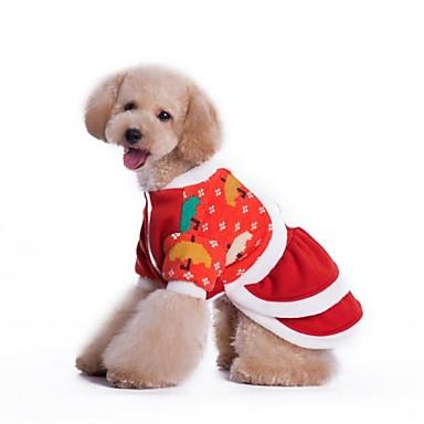 honden Jurken Rood Hondenkleding Winter Cosplay / Kerstmis