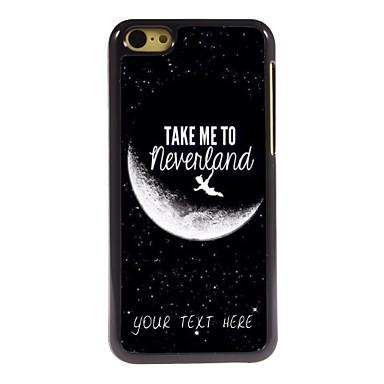caso de telefone personalizado - me levar para caso design de metal Neverland para iphone 5c