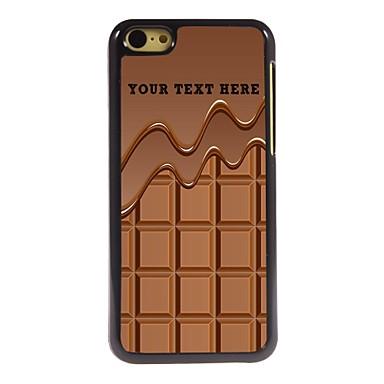 caso de telefone personalizado - o chocolate caso design de metal para iphone 5c