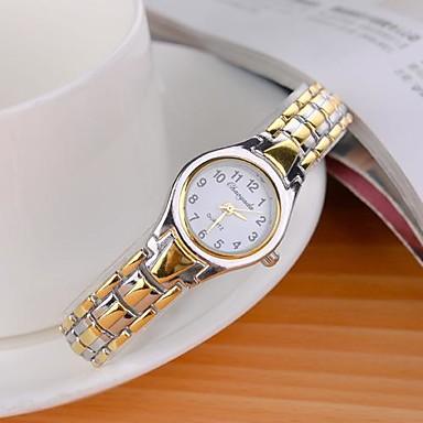Dames Dress horloge Kwarts Legering Band Zilver Goud Zwart Gouden