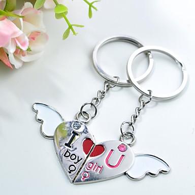 kişiselleştirilmiş gravür aşk melek metal çift Anahtarlık
