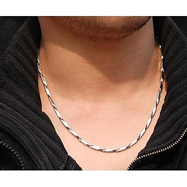 Ketten - Edelstahl, Titanstahl Silber Modische Halsketten Schmuck 1pc Für Hochzeit, Party, Alltag
