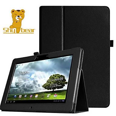 아수스 메모 패드 FHD 10 me302의 me302c에 대한 수줍은 곰 ™ 가죽 태블릿 커버 케이스는 10.1 인치를 me302kl