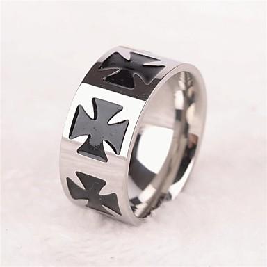 Erkek Bildiri Yüzüğü - Titanyum Çelik Moda 8 / 9 / 10 / 11 / 12 Uyumluluk Parti Günlük