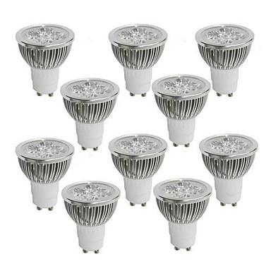 billige LED-lyspærer-10pcs 4 W 350-400 lm GU10 LED-spotlys 4 LED Perler Højeffekts-LED Varm hvid / Kold hvid / Naturlig hvid 85-265 V / 10 stk. / RoHs