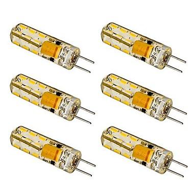100-120 lm G4 LED Mais-Birnen T 24 LED-Perlen SMD 3014 Warmes Weiß / Kühles Weiß 12 V / 6 Stück / RoHs