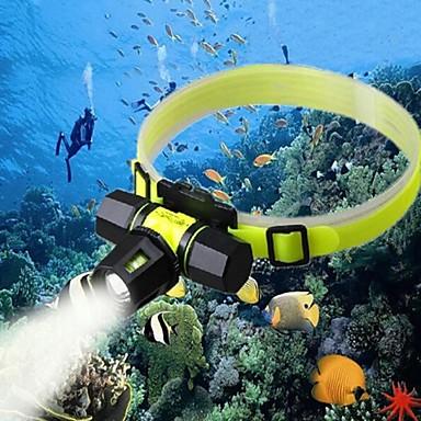 Hoofdlampen LED 2000 Lumens 3 Modus Cree XM-L U2 18650 Oplaadbaar Waterbestendig Kamperen/wandelen/grotten verkennen Dagelijks gebruik