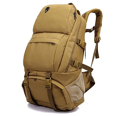 50L Rucsaci - Impermeabil, Rezistent la umezeală, Uscare rapidă Camping & Drumeții, Alpinism, Sporturi de Agrement Oxford Maro, Gri+Alb,