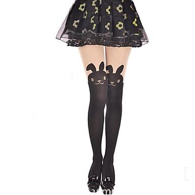 Oberschenkellange Socken Strümpfe / Strumpfhosen Niedlich Lolita Prinzessin Damen Lolita Accessoires Tierfell-Druck Hase/Kaninchen
