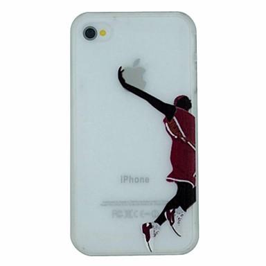serie de baschet de Slam Dunk model pc greu transparent caz capacul din spate pentru iPhone 4 / 4s