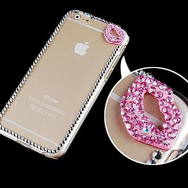 Para Capinha iPhone 6 Capinha iPhone 6 Plus Case Tampa Com Strass Transparente Capa Traseira Capinha Desenho 3D Rígida PC paraiPhone 6s