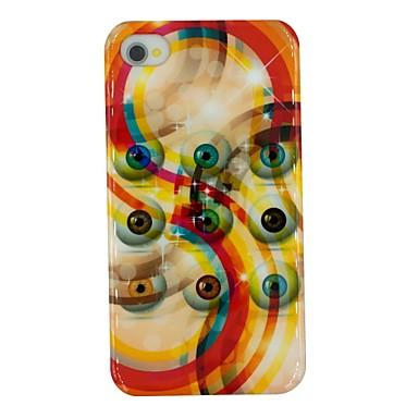 kleurrijke ogen patroon pc Hard Cover Case voor iPhone 4 / 4s
