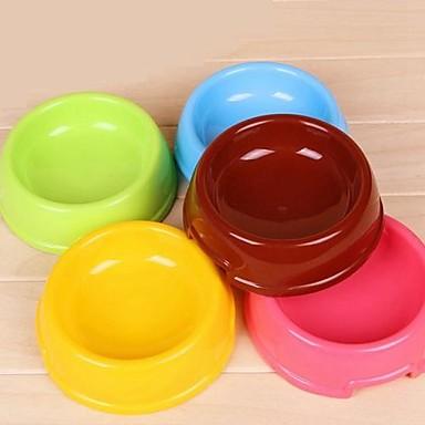 klein runde Schüssel für Hunde (gelegentliche Farbe)