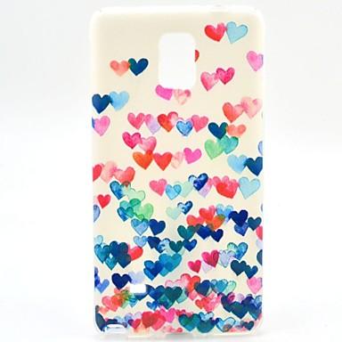 Για Samsung Galaxy Note Με σχέδια tok Πίσω Κάλυμμα tok Καρδιά TPU Samsung Note 4