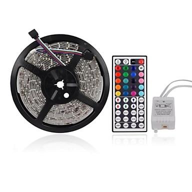 zdm 5m 300 x 2835 rgb benzi led lumina flexibilă și ir 44key telecomandă legare auto-adezivă color-schimbare
