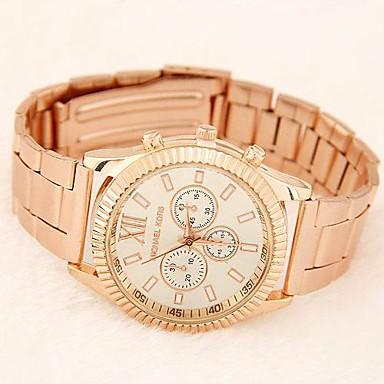 Damen Armbanduhren für den Alltag Modeuhr Anwendung Andere Band Gold