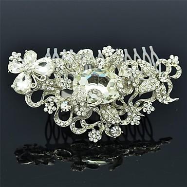 strass clair fleur floral peigne bijoux de cheveux pour. Black Bedroom Furniture Sets. Home Design Ideas