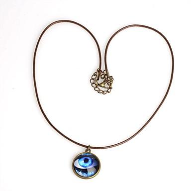 Slang Cirkelvorm Geometrische vorm Boze oog Vorm Hangertjes ketting Leder Koper Hangertjes ketting Bruiloft Feest Dagelijks Causaal Sport