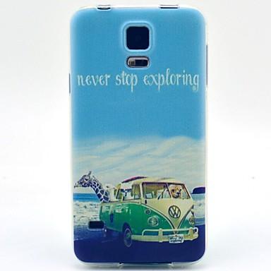 Para Samsung Galaxy Capinhas Estampada Capinha Capa Traseira Capinha Cenário TPU Samsung S5