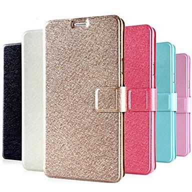 Pouzdro Uyumluluk Samsung Galaxy Samsung Galaxy Note Kart Tutucu Satandlı Flip Tam Kaplama Kılıf Tek Renk PU Deri için Note 4