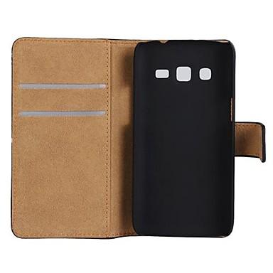 Pentru Samsung Galaxy Carcasă Titluar Card / Cu Stand / Întoarce Maska Corp Plin Maska Culoare solida PU piele Samsung Express 2