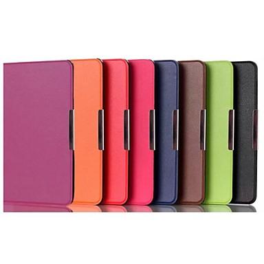 Capinha Para Amazon Kindle Capa de Corpo Inteiro Capa Proteção Completa Côr Sólida Rígida PU Leather para