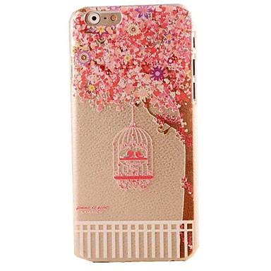 Pink Cherry Blossoms Pattern Hard Casor iPhone 6 Plus
