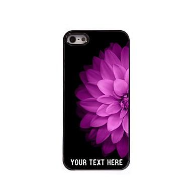 caso de telefone personalizado - metade da flor caso design de metal rosa para iPhone 5 / 5s