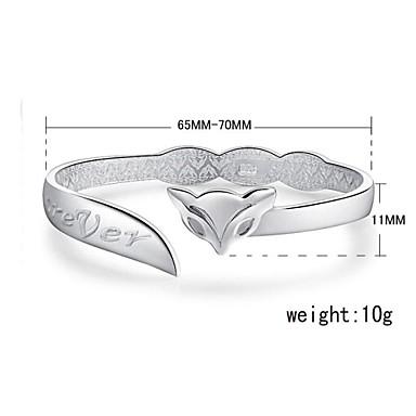 Dames Sieraden Cuff armband Zilver Vos Dier Sieraden Verjaardag Verloving