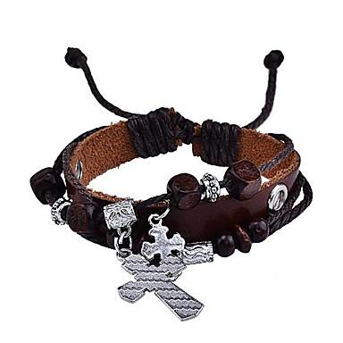 lureme® estilo do vintage pulseira cruz cadeia