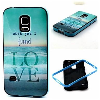 Voor Samsung Galaxy hoesje Schokbestendig / Patroon hoesje Achterkantje hoesje Woord / tekst TPU Samsung S5