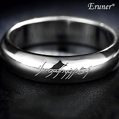 Men's Band Ring Silver Alloy Costume Jewelry