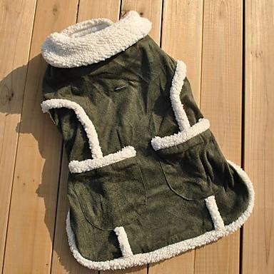 Kat Hond Jassen Gilet Hondenkleding Ademend Casual/Dagelijks Effen Groen Kostuum Voor huisdieren