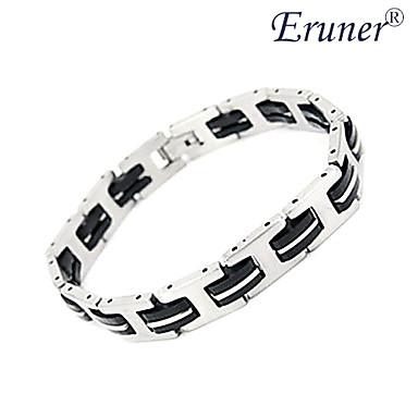 eruner® herenmode silicagel en titanium stalen armband