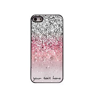caz telefon personalizate - caz sclipitoare de metal de proiectare pulbere pentru iPhone 5 / 5s