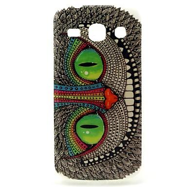 olhos verdes padrão coruja caso design da capa TPU durável para samsung galaxy estrela 2 plus