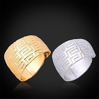 Pentru femei Teak / Placat cu platină / Placat Auriu Inel de declarație - Deschis / Ajustabile Argintiu / Auriu Inel Pentru Nuntă /
